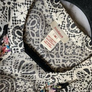 Sundance Tops - SOLD✨Sundance Catalog Silk Sequined Printed Sheer